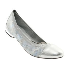 Ballerinki kvinnors suddgummi Gamis 1402 silver 2