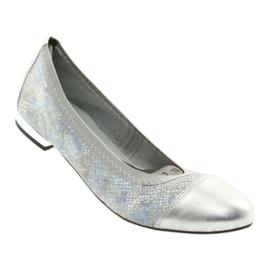 Ballerinki kvinnors suddgummi Gamis 1402 silver 1