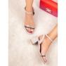Ideal Shoes Snygga Suede Sandaler grå 6