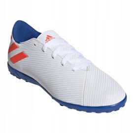 Fotbollsstövlar adidas Nemeziz Messi 19.4 Tf Jr F99929 vit vit 3