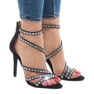Svarta sandaler på stilett 9081-9 1