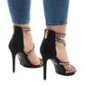 Svarta sandaler på stilett 9081-9 3