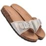Marquiz brun Glänsande flip-flops med en spänne bild 1
