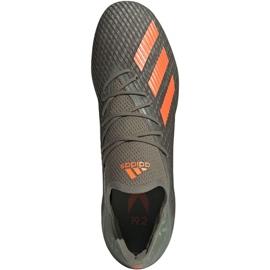 Adidas X 19.2 Fg M EF8364 fotbollsskor grå grön 1