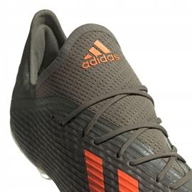 Adidas X 19.2 Fg M EF8364 fotbollsskor grå grön 4