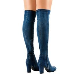 HX15135-96 jeans med rippor marinblå 3