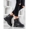 Yes Mile Svarta sneakers på plattformen 6