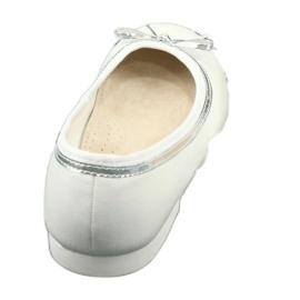 Ballerinas med en båge, vit pärla American Club GC29 / 19 flerfärgad 3
