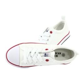 American Club Vita amerikanska LH25 Knuten sneakers 5