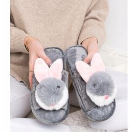 Bona Bunny tofflor grå 4