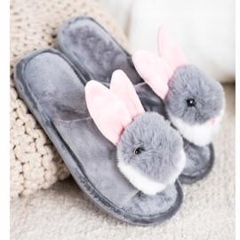 Bona Bunny tofflor grå 1