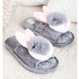 Bona Bunny tofflor grå 3