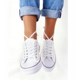 FB2 Vita Candice-spetsskor för kvinnor 5