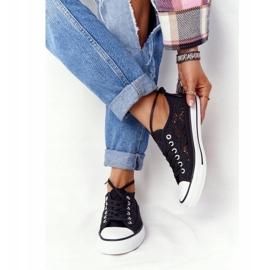FB2 Candice Sneakers för svarta spetsar för kvinnor 1