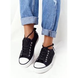 FB2 Candice Sneakers för svarta spetsar för kvinnor 2
