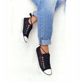FB2 Candice Sneakers för svarta spetsar för kvinnor 3