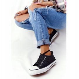 FB2 Candice Sneakers för svarta spetsar för kvinnor 5