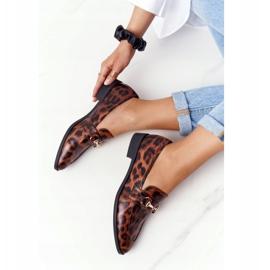 S.Barski Eleganta Loafers för kvinnor S. Barski Leopard brun 1
