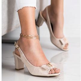 Evento Eleganta sandaler med höga klackar beige 1