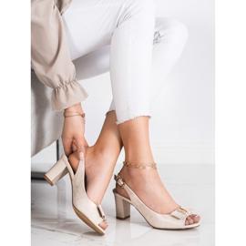 Evento Eleganta sandaler med höga klackar beige 2