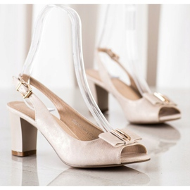 Evento Eleganta sandaler med höga klackar beige 3
