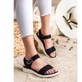 Evento Bekväma sandaler med kardborreband svart 2
