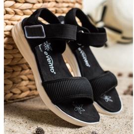 Evento Bekväma sandaler med kardborreband svart 3