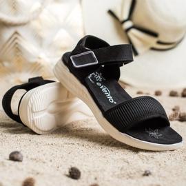 Evento Bekväma sandaler med kardborreband svart 4