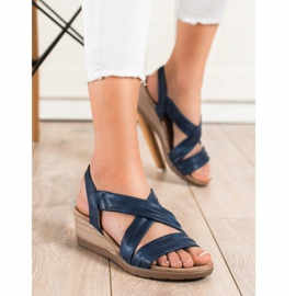S. BARSKI Wedge Sandals S.BARSKI blå 3