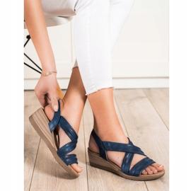 S. BARSKI Wedge Sandals S.BARSKI blå 1