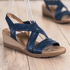 S. BARSKI Wedge Sandals S.BARSKI blå 2