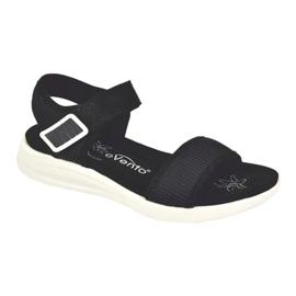 Evento Bekväma sandaler med kardborreband svart 5